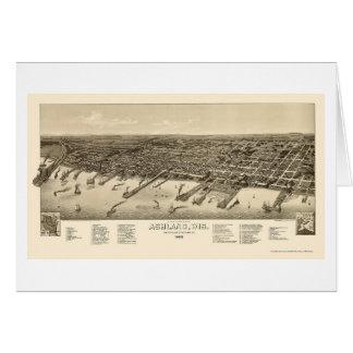 Ashland, WI Panoramic Map - 1886 Card