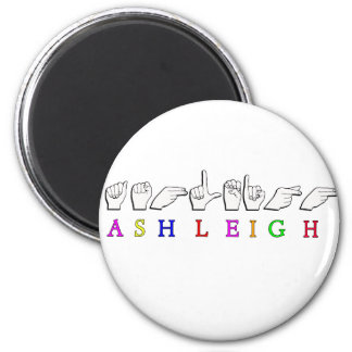 ASHLEIGH FINGERSPELLED ASL NAME SIGN MAGNET
