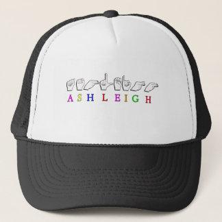 ASHLEIGH FINGERSPELLED ASL NAME SIGN TRUCKER HAT