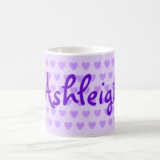 Ashleigh in Purple Coffee Mugs