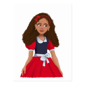 Ashley AFrican Cartoon girl Postcard