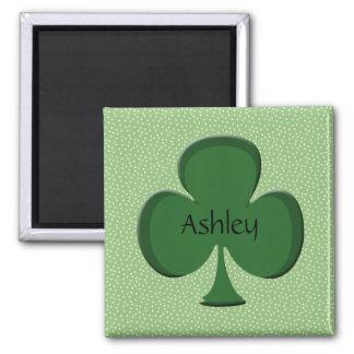 Ashley Green Irish Name Magnet - Shamrock