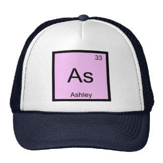 Ashley Name Chemistry Element Periodic Table Cap
