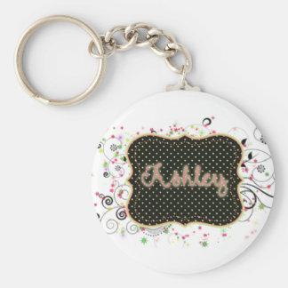 Ashley Nameplate Key Ring