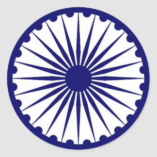 Ashoka Chakra, India flag Classic Round Sticker
