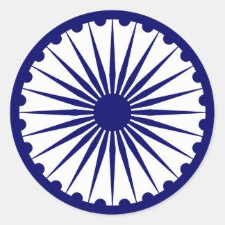 Ashoka's Dharma Chakra Classic Round Sticker