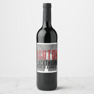 Ashton Blackthorne Wine Bottle Label