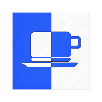 Ashton Blue and White Cup Canvas Print