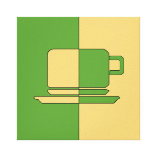Ashton Green and Gold Cup Canvas Print