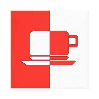 Ashton Red and White Cup Canvas Print