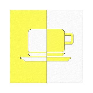Ashton Yellow and White Cup Canvas Print