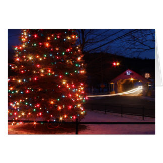 Ashuelot Covered Bridge Holiday Display Winchester Card