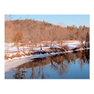 Ashuelot River Reflections in February Postcard