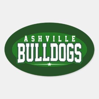 Ashville High School; Bulldogs Oval Stickers
