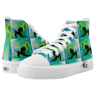 Ashwa Sancha Yoga Girl - Zip Shoes, High Tops Printed Shoes