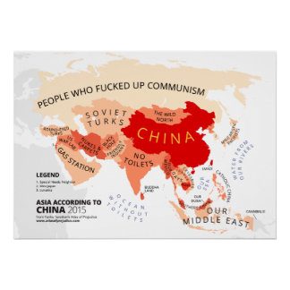 Asia According to China Poster