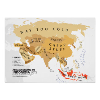 Asia According to Indonesia Poster