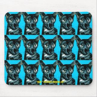 ~Asia ~ black smoke Oriental cat ~ Mouse Pad