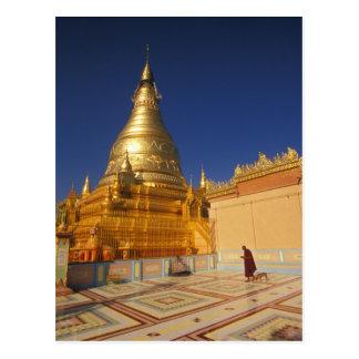 Asia, Burma (Myanmar) Mandalay, Sagaing Hill: Postcard