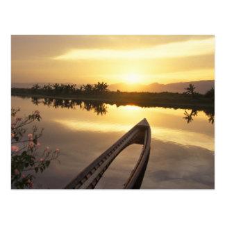 Asia, Burma (Myanmar) Sunken fishing boat Postcard