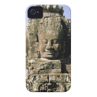 Asia, Cambodia, Siem Reap. Angkor Thom, heads of iPhone 4 Cover
