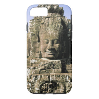 Asia, Cambodia, Siem Reap. Angkor Thom, heads of iPhone 7 Case
