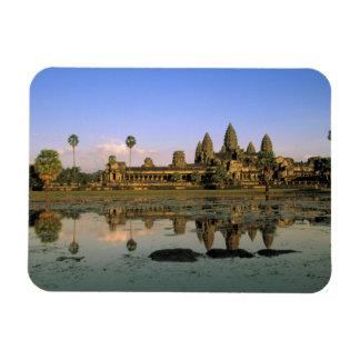 Asia, Cambodia, Siem Reap. Angkor Wat. 2 Rectangular Photo Magnet