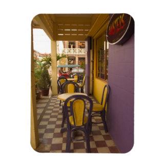 Asia, Cambodia, Siem Reap, coffee shop. Rectangular Photo Magnet