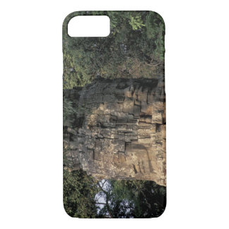 Asia, Cambodia, Siem Reap. Huge stone sculptures iPhone 7 Case