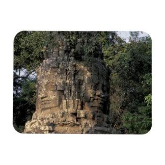 Asia, Cambodia, Siem Reap. Huge stone sculptures Rectangular Photo Magnet