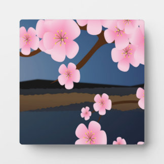 Asia Cherry Blooms Photo Plaques