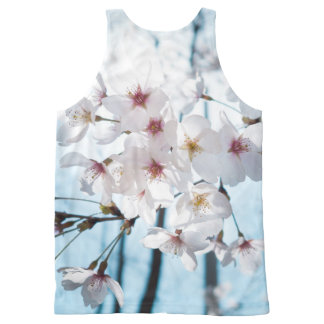 Asia Cherry Blossoms All-Over Print Singlet