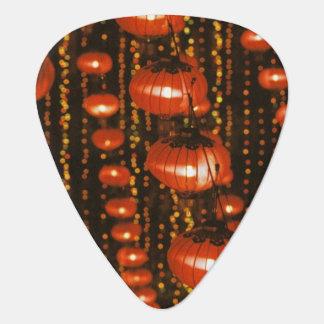 Asia, China, Beijing. Red Chinese lanterns, Guitar Pick