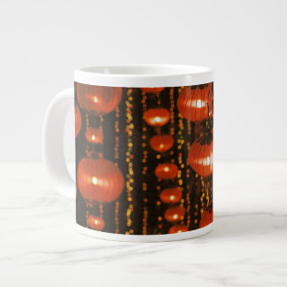 Asia, China, Beijing. Red Chinese lanterns, Large Coffee Mug