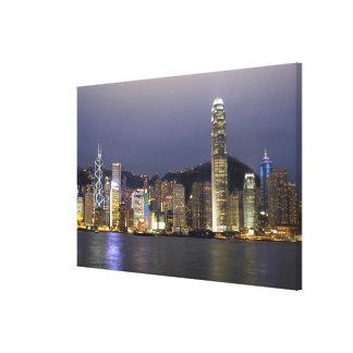 Asia, China, Hong Kong, city skyline and 2 Canvas Prints