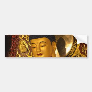 Asia Golden Buddha Bumper Sticker