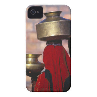 Asia, India, Rajasthan. A local woman in a red iPhone 4 Covers