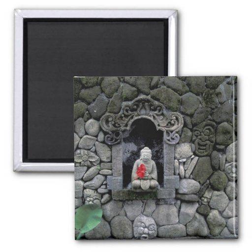 Asia, Indonesia, Bali. A shrine of Buddha Fridge Magnet