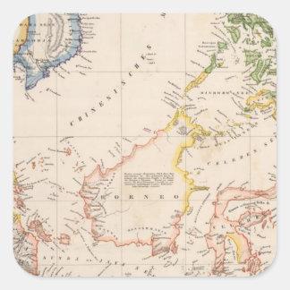 Asia, Indonesia, Philippines, East Indies Square Sticker