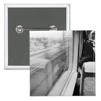 Asia, Japan. Aboard the Shinkansen Bullet Train 15 Cm Square Badge