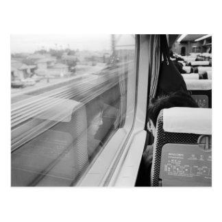 Asia, Japan. Aboard the Shinkansen Bullet Train Postcard