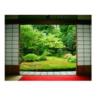 Asia, Japan, Kyoto. Zen Garden 2 Postcard