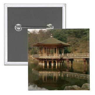 Asia, Japan, Nara, Temple in Nara 15 Cm Square Badge