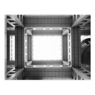 Asia, Japan, Tokyo. Fuji TV Building, looking Postcard