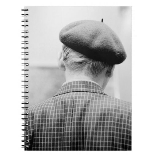 Asia, Japan, Tokyo. Man with Beret, Tokyo Metro Spiral Notebook