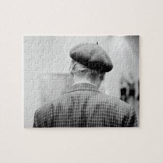 Asia, Japan, Tokyo. Man with Beret, Tokyo Metro Puzzle