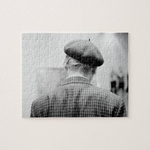 Asia, Japan, Tokyo. Man with Beret, Tokyo Metro Jigsaw Puzzles