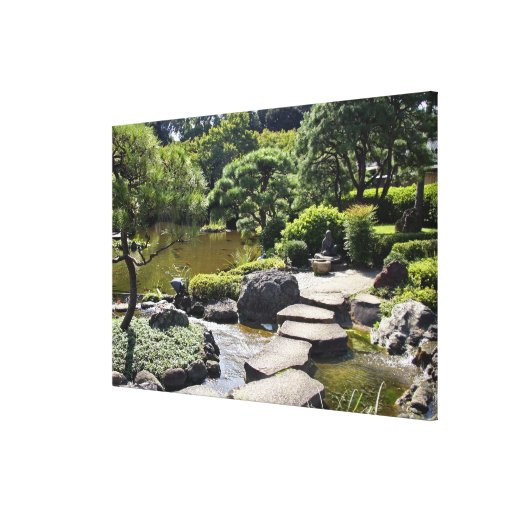 Asia, Japan, Tokyo. The Japanese Garden at the Gallery Wrapped Canvas