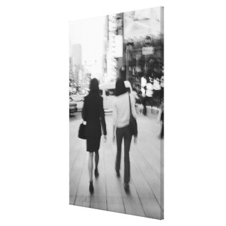 Asia, Japan, Tokyo. Young women on the Ginza. Canvas Print