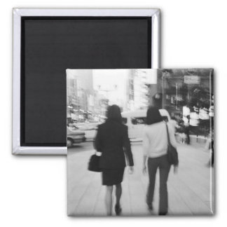 Asia, Japan, Tokyo. Young women on the Ginza. Square Magnet